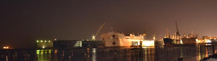 USNS Mercy, Photo taken at BAE Systems, Inc. San Francisco - January 16, 2013