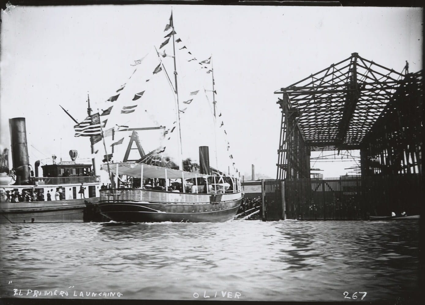 Hull 22, yacht EL PRIMERO owned by Edward Hopkins, launched in 1893.