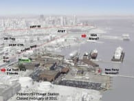 Aerial view of location of Pier 70 renewal project on the San Francisco waterfront